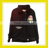 Popular Products Bros Baby Rinne Terry Cloth Sewing Women Long Sleeve 100% Cotton Black Jacket