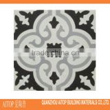 black and white handmade cement wall and floor tile