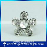 Standards Hight Quality Fashion Sparkling Jewleries Silver Flower Ring For Women R0147