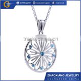 CPC035 Fashion jewelry 2015 birthstone pendant,stainless steel floating crystal moonstone ring pendant jewelry