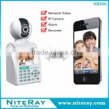 Viewerframe mode refresh network ip camera with wireless auto dial home security alarm system