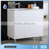 free standing square basin bathroom cabinet