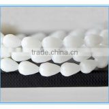 drop glass beads jade white color crystal beads for wedding dress