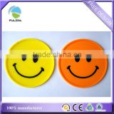 small quantity smiley face Soft Rubber insulation pad coaster