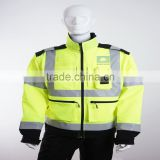 EN 20471 high visibility poly-cotton outdoor safety reflective apparel with reflective tape