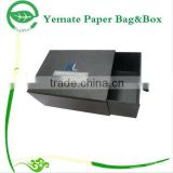 New Arrived decorative handmade printing black paper shoe box, cardboard sliding gift box