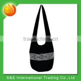 black hobo hippie sling shoulder bag crossbody