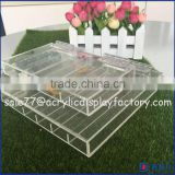 China manufacturer acrylic tray with dividers for makeup brushes, lipsticks / acrylic organizer tray