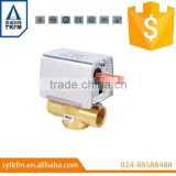 "Motorized 1/2"" 3/4"" 1 inch brass valve electric water valve solenoid valve"