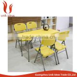 wholesale cheap plastic wedding outdoor garden chair folding picnic chair and table folding plastic chair