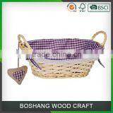 Decorative Wicker Natural Willow Wine Storage Baskets                                                                         Quality Choice