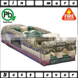 2016 new design kids and adults cheap used outdoor amusement park equipment inflatable obstacle course prices for sale                                                                                                         Supplier's Choice