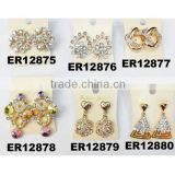 fashion cheap fake diamond stud earring
