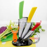 "Colorful handle 4""+ 6""+ 6.5""+Peeler Ultra Sharp Kitchen Ceramic knife Set Cutlery Knives straight"
