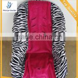 Baby Car Seat Cover Protector Teal Zebra With Hot Pink Minky Toddler Car Seat Cover                                                                         Quality Choice