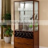 2015 wooden dining set furniture glass wine cabinet wine glass display cabinet CE ISO9001 CARB