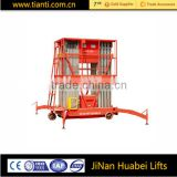 High rise window cleaning equipment best price hydraulic telescopic vertical mobile aluminum alloy work platform