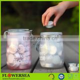 home and garden decorative custom glass votive candle jars and lids