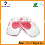 soft silicone PU Gel heel cushion half pad back heel support insole pressure relief cushion