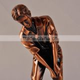 Sports resin figure golf man