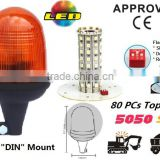 E-MARK SMD Flash Warning Light, ECE MARK SMD Rotating Warning Beacon (SR-BL-501S-9) Flexible DIN Mount LED Beacons, 3 Functions