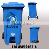 High Quality Cheap Outdoor Plastic Compost and Rubbish Wheelie Bin 240L