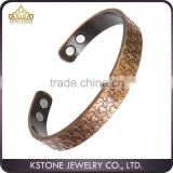 KSTONE Arthritis Healing Therapy Cuff Golf Bangle, Mens Women Pure Magnetic Copper Bracelet