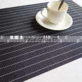 wearable PVC placemat jacquard table mat,pvc weave placemat