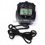 Handheld Sports Digital 3-Row LCD Stopwatch Counter with Alarm Calendar PC3830A