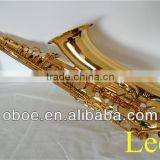 Woodwind musical instrument gold lacquer Bb brass tenor saxophone--334G