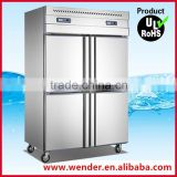 1000L four doors restaurant upright commercial hotel refrigerator