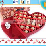 SGS Authenticate 100% quality custom heart shape cardboard chocolate truffle packaging box with ribbon bow CY-SY122