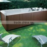 Freestand Acrylic Whirlpools Massage Bathtub Mini Swimming Pools with 3 Seats and 1 loungers bath chairs for disabled