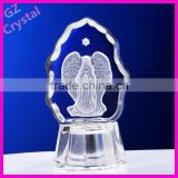 Crystal craft religious glass statue artworks