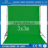 Factory supply photography equipment 3x3m pure cotton green screen muslin background fabric backdrop