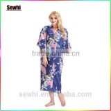 Girl Sex Floral Robe Wholesale Satin Robe