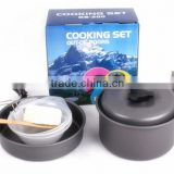 8pcs High Quality Portable Non-stick Pots Pans Bowls Outdoor Camping Hiking Cooking Set Cookware