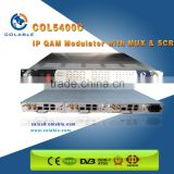 Cable tv qam modulator with multiplexer & Scrambler IP 256 address input , ip qam 8 COL5400C