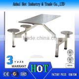 Aluminum Alloy Dining Table And Chair School Canteen Necessary Marble Dining Table Wholesale Price