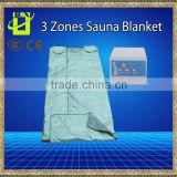 3 Zones Far Infrared Blanket Sauna Slimming body heating therapy wrap detox beauty health care