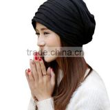 Women's Fashion Cotton Stripes Cap Plush Headscarf