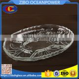 bubble clear partition oval glass plate