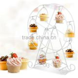 Romantic Gold Ferris wheel 8 Cups cake rack cake tree display Wedding Party Decoration Cupcakes rack