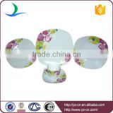 Blue Flower Decal Ceramic Hotel Restaurant Crockery Tableware