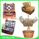 Outdoor quality willow wholesale bulk cooler picnic basket