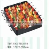 NONSTIC BLACK KEBAB GRILL SET FOR BARBEQUE
