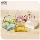 hot sale multicolor empty clear glass home aroma reed diffuser bottle fragrance diffuser bottle