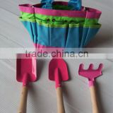 3pcs kids garden tools set in bag