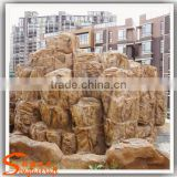 Garden decoration artificial landscaping slate fake rock garden fountains