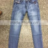 GZY Blue Simple Men Baggy Jeans For United States Wholesale Price Stock